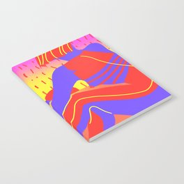 Sunset in the desert of the real Notebook