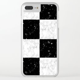 Elegant black white marble Clear iPhone Case