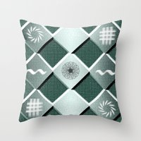 pyramid Throw Pillows featuring Pyramid by MJ Mor