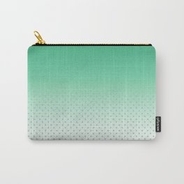 Modern forest green gradient pastel polka dots Carry-All Pouch
