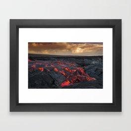 Kamukona (61g) Lava on the Big Island, Hawaii Framed Art Print