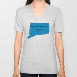 Keep Connecticut Blue! Proud Democrat Liberal Vote! 2018 Midterm Unisex V-Neck