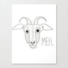Meh Goat Canvas Print