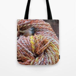 Fall in love with fall knitting Tote Bag