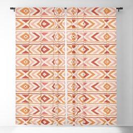 Boho Horizon - Coral and Orange Blackout Curtain