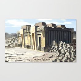 Post Apocalyptic Garda/Police Station Canvas Print