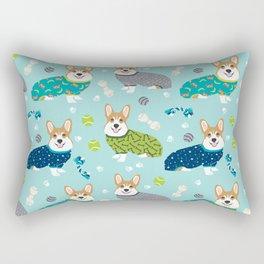 Corgi pajamas welsh corgi in pjs pattern print cute dog gifts custom dog portrait Rectangular Pillow