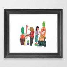 In the wild. Framed Art Print