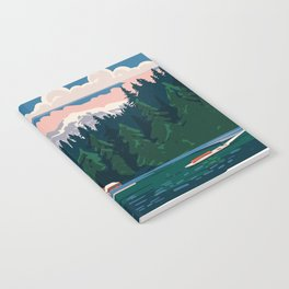 Cabin by a lake Notebook