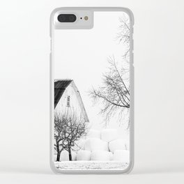 Winter on the Farm Clear iPhone Case