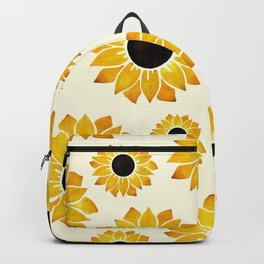 Sunflower Watercolor Pattern Backpack