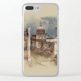 Roman Forum Clear iPhone Case