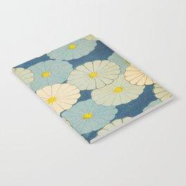 Shin-Bijutsukai – Japanese Design Blue Floral Pattern Notebook