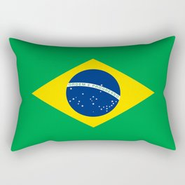 Flag of Brazil - Hi Quality Authentic version Rectangular Pillow