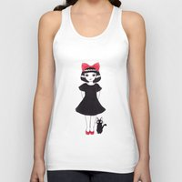kiki Tank Tops featuring Kiki and Jiji by Wondering Lolita by Naeema Krishna