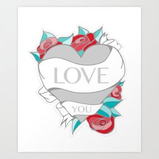 Love- Heart Tattoo Art Print