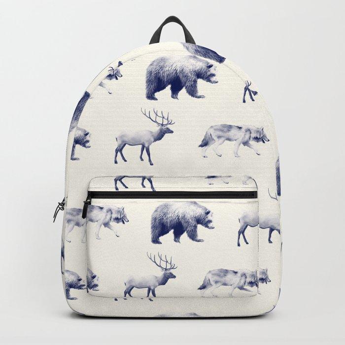 Wild Pattern // Blue Backpack