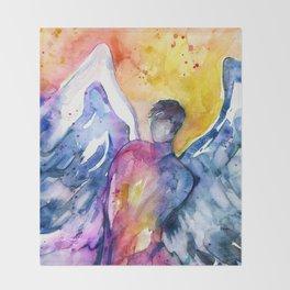Luke Angel by Kathy Morton Stanion Throw Blanket