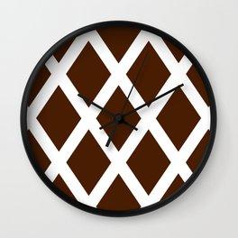 Cross Hatch Wall Clock