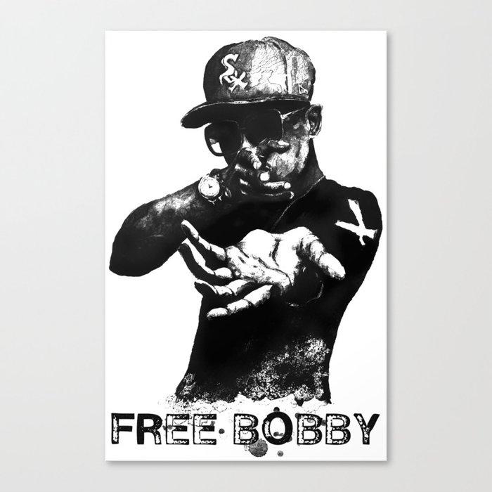 Free Bobby Shmurda Lithograph Canvas Print by drewnelz