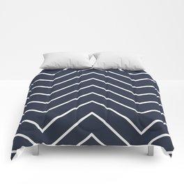Yacht style. Navy blue chevron. Comforters