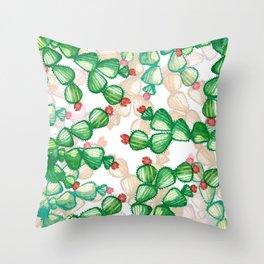 Green Cactus Throw Pillow