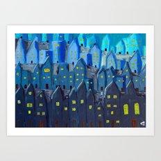 Cidade à Noite Art Print