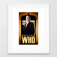 doctor Framed Art Prints featuring Doctor ? by rnlaing