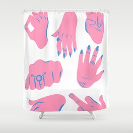 trans hands Shower Curtain