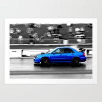 subaru Art Prints featuring Subaru Racer by VHS Photography