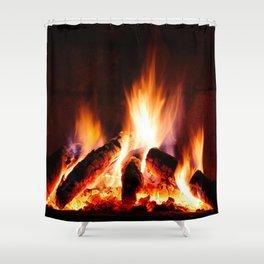 Fireplace Shower Curtain