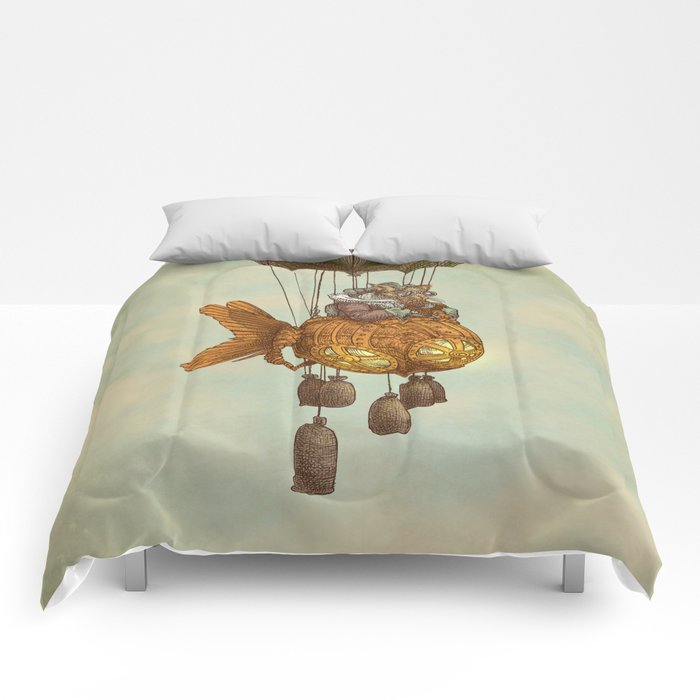 Around the World in the Goldfish Flyer Comforters