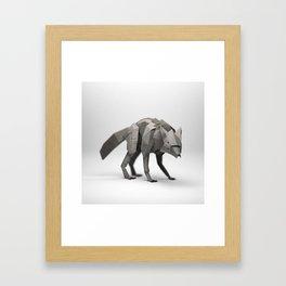 The Paper Fox : Wolf Framed Art Print