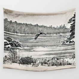 Winter Eagles Wall Tapestry