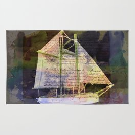 A Sailboat with a Story Rug