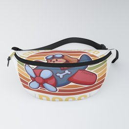 Easily Distracted By Dogs airplane pilot Fanny Pack