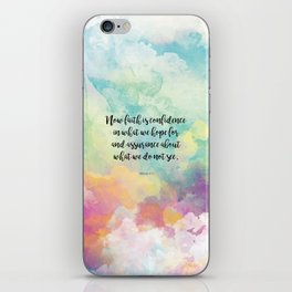 Faith Bible Quote, Hebrews 11:1 iPhone Skin