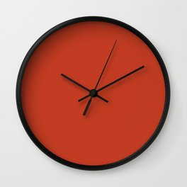 Dark Chalky Pastel Red Solid Color Wall Clock