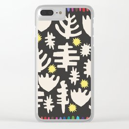 Rainbow Woodland Black/White Clear iPhone Case