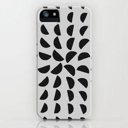 Half Moon Pattern iPhone Case