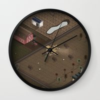 country Wall Clocks featuring Country by Soak