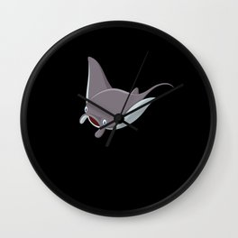 Manta Ray Giant Manta Ray Devil Ray Animal Motif Wall Clock