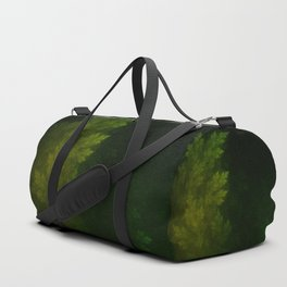Beautiful Fractal Pines in the Misty Spring Night Duffle Bag