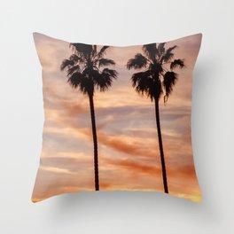 Santa Monica Sunset Throw Pillow