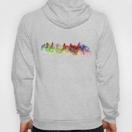 Sao Paulo skyline in watercolor on white background Hoody