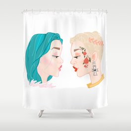Two Halseys Shower Curtain