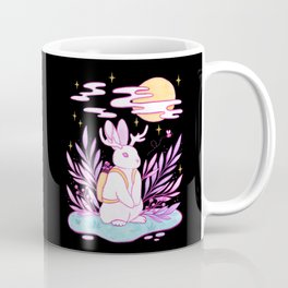 Plant Jackalope // Black Coffee Mug