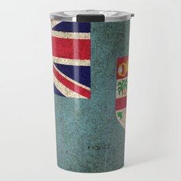 Old and Worn Distressed Vintage Flag of Fiji Travel Mug
