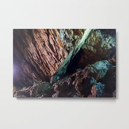 Inside Ialomitei cave, Bucegi mountains, Romania, Bucegi National Park Metal Print