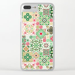 Moroccan Christmas Clear iPhone Case
